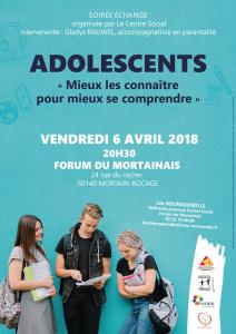 Affiche soirée débat Adolescents