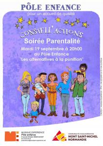 Affiche soirée parentalité sept 2017