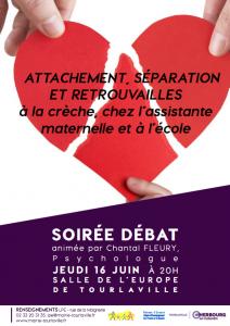 Affiche soiree debat Attachement separation retrouvailles