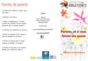 flyer pause parents S O N D 2017
