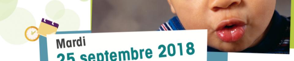 Affiche le langage de l'enfant Cherbourg 25.09.2018