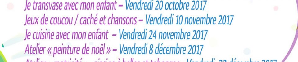Atelier parents enfants Pontorson fin 2017